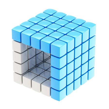 Abstract background as cube structure Stock Photo - 14183535