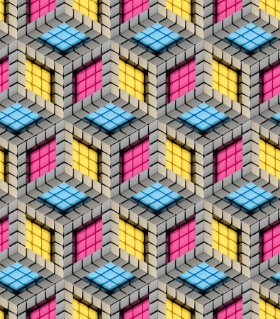 Seamless hexagon cube background texture Stock Photo - 14183706