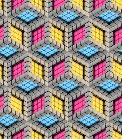 Seamless hexagon cube background texture Stock Photo - 14183706