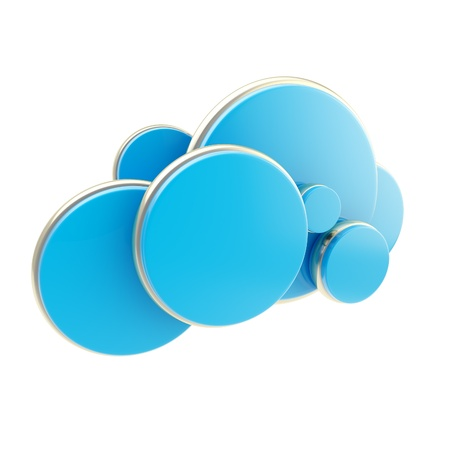 Cloud computing technology blue icon Stock Photo - 14183232