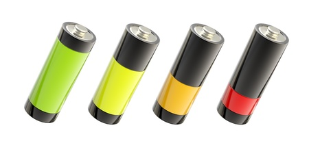 Charging battery bright and glossy photo