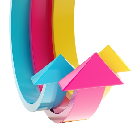bend: Abstract bend arrow copyspace background Stock Photo