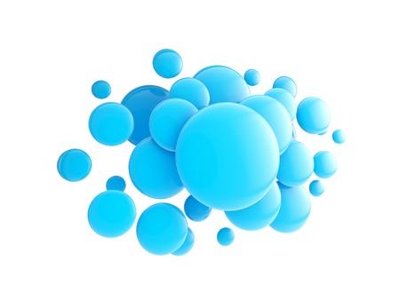 Copyspace cloud technology emblem Stock Photo - 14241358