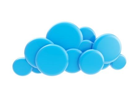 Cloud computing technology blue icon Stock Photo - 14241297