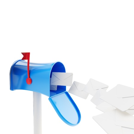 Glossy plastic mailbox with a flock of letters Stock Photo - 14241293