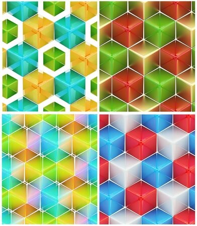 Seamless abstract colorful background photo