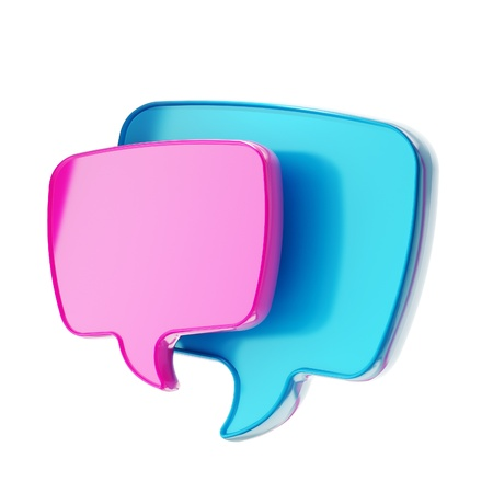 Text speech bubble icon isolated photo