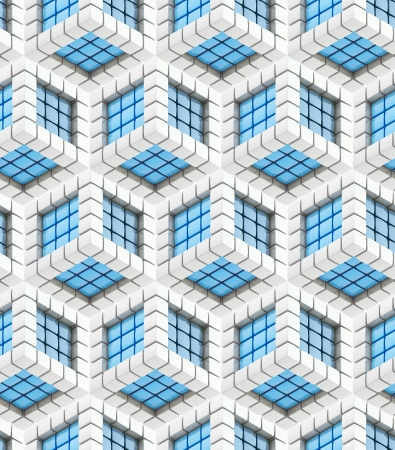 Seamless hexagon cube background texture photo
