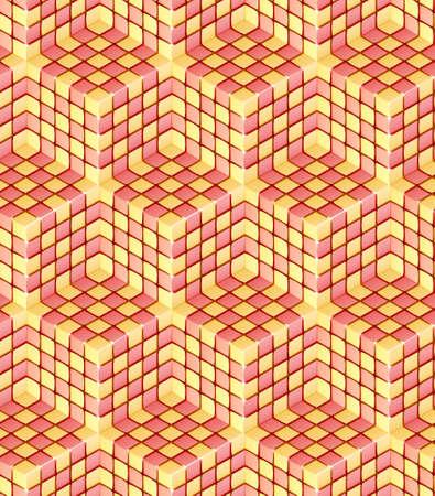 Seamless hexagon cube background texture photo
