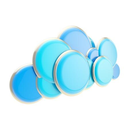 Cloud computing technology blue icon photo