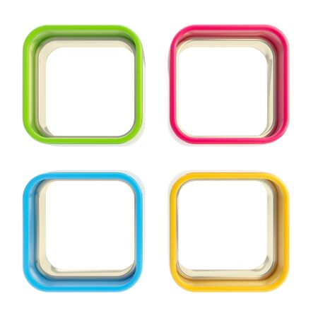 applet: Four applet copyspace colorful boxes Stock Photo