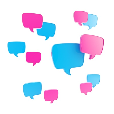 Speech bubble as communication illustration illustration