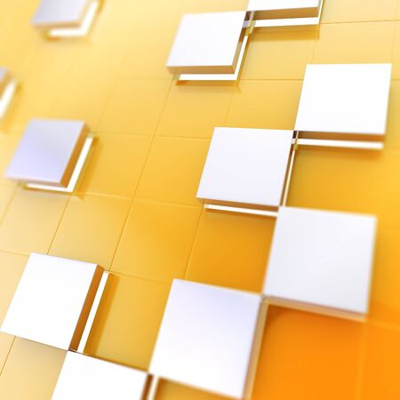 Abstract cube background techno wallpaper Stock Photo - 14294429