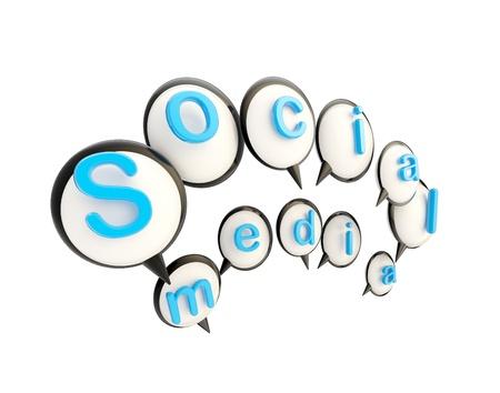 Social media emblem made of speech bubbles Stock Photo - 14294397