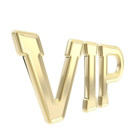Very important person golden VIP emblem symbol isolated on white photo