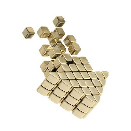 torrent: Technology cube arrow golden emblem icon
