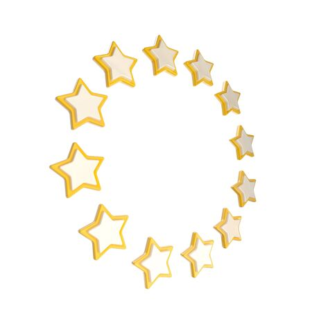 Circle star frame emblem isolated Stock Photo - 14294055