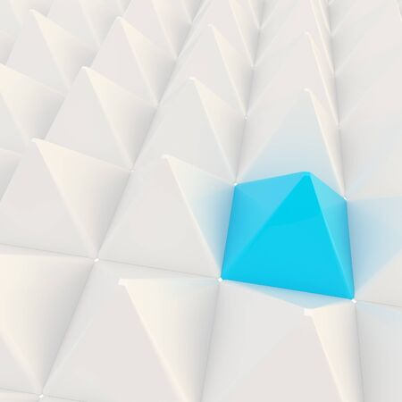 Abstract background made of pyramids photo