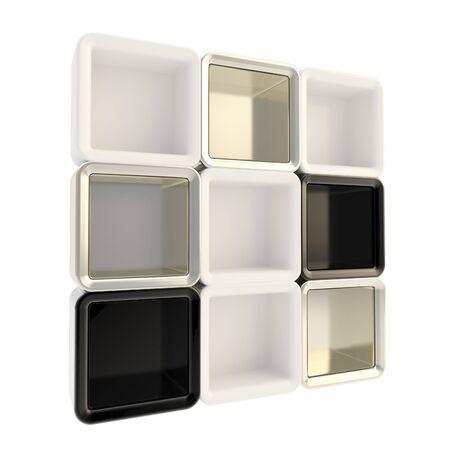 Copyspace window shelf set showcase photo