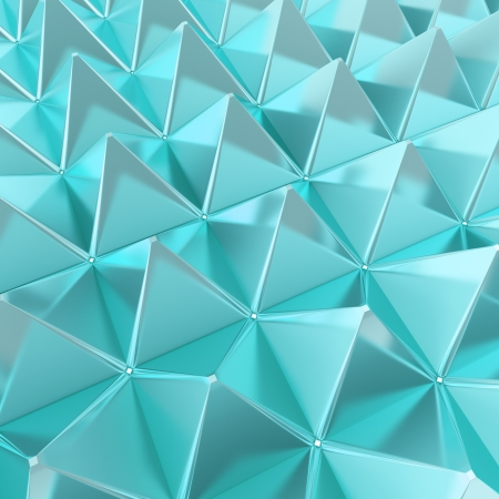 Abstract background made of glossy blue pyramid composition photo