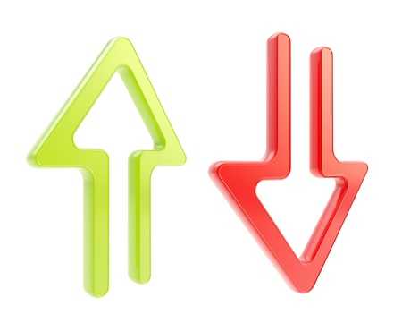 torrent: Up and down arrow glossy icons isolated