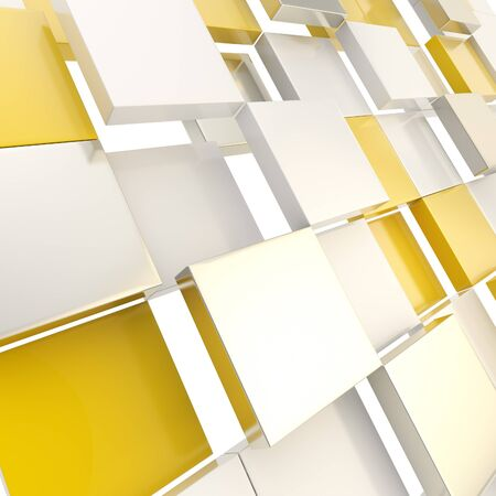 Cube abstract copyspace background Stock Photo - 14307360