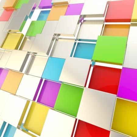 Futuristic copyspace background of cubic plates Stock Photo - 14308004