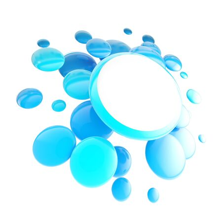 pricetag: Pricetag offer plate copyspace emblem as group of glossy spheres isolated
