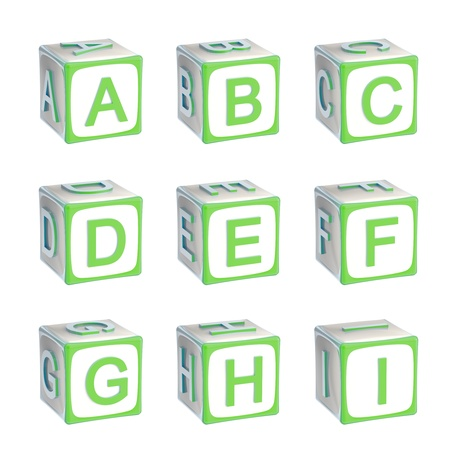 ABC  alphabet made of children playing cubes photo