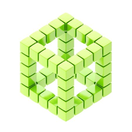 Abstract background as cube structure isolated on white Stock Photo - 15039778