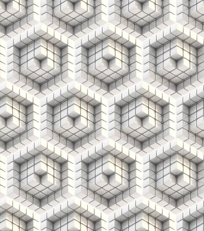 Seamless hexagon cube background texture abstract backdrop Stock Photo - 15040142
