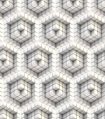 Seamless hexagon cube background texture abstract backdrop Stock Photo - 15040142