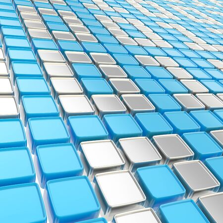 Binary technology background  chrome metal ones and zeros made of glossy square fragment plates Stock Photo - 15040140