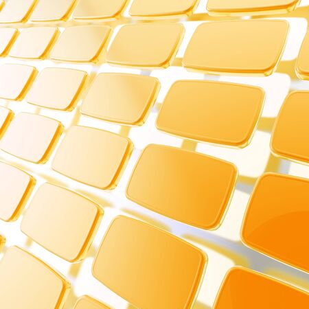 Abstract background made of orange copyspace glossy plates above metal surface Stock Photo - 15040735