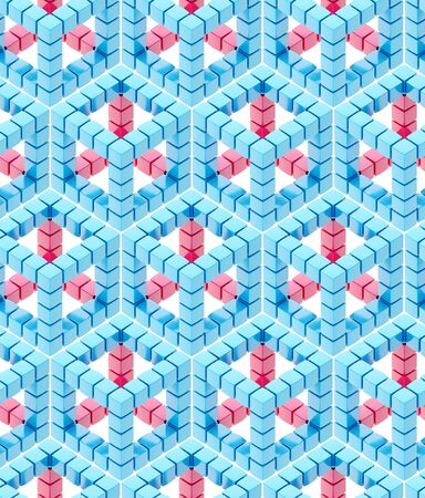 Seamless hexagon cube background texture abstract backdrop Stock Photo - 15040762