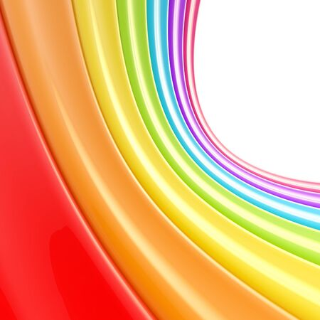 colored backgound: Abstract glossy backgound made of glossy rainbow colored stripes Stock Photo