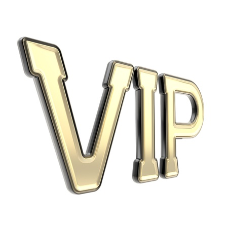 VIP as very important person golden emblem symbol isolated on white Stock Photo - 15040576