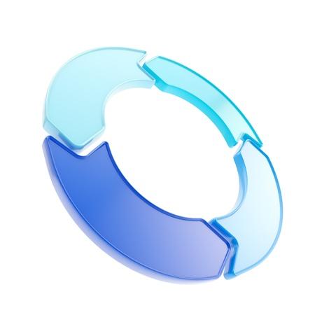 4 光沢のある矢印 copyspace エンブレム circlular ラウンド白で隔離されるタグ