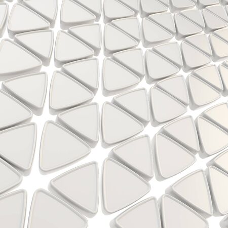 Abstract copyspace geometrical background made of white plastic glossy triangles photo
