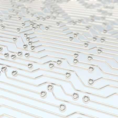 microcircuit: Microcircuit chip metallic scheme as technology and science abstract background