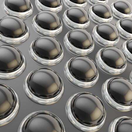 Abstract background made of glossy reflective spheres over surface photo