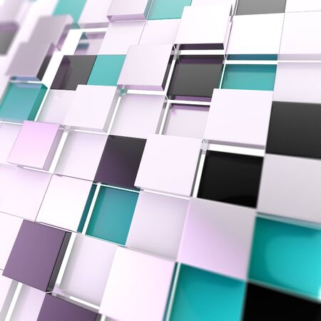 Cube abstract copyspace background made of black and blue glossy shiny plates Stock Photo - 15090661