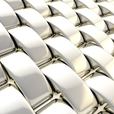 copyspace: Abstract background made of glossy chrome silver metal squama scale Stock Photo