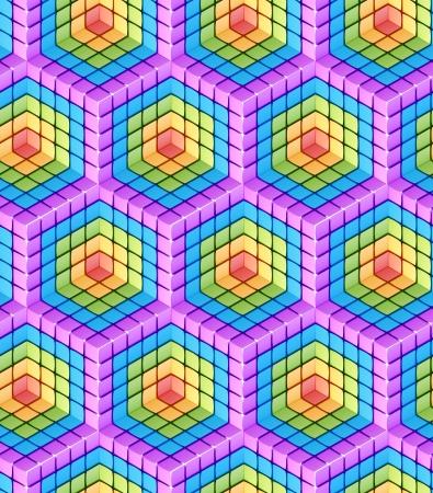 Seamless hexagon cube background texture abstract backdrop photo