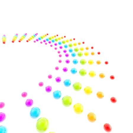 copyspace: Abstract copyspace background made of rainbow colored glossy spheres