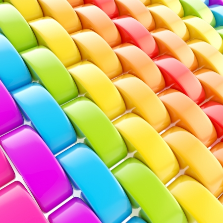Abstract colorful background made of glossy rainbow colored gradient plastic squama scale photo