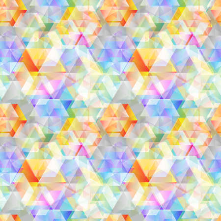 Seamless background colorful based on hexagon geometrical raster pattern texture