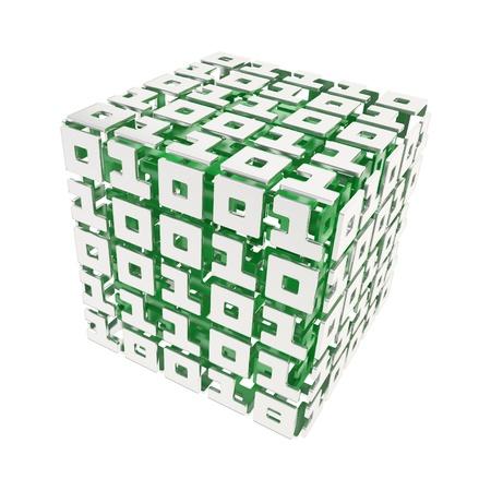 コンピューター科学とキベルネティカ次元キューブものとゼロを白で隔離されるから成っています。