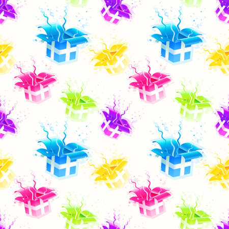 Gift wrap colorful raster seamless texture background pattern Stock Photo - 15955878