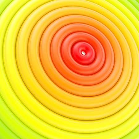 epicenter: Epicenter abstract background made of glossy red to green colored hoop torus rings
